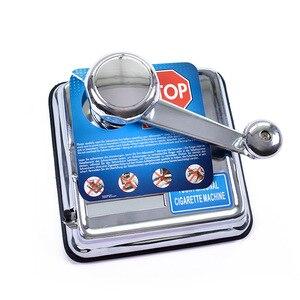 Высококачественная Серебристая ручная машинка для завальцовки сигарет, ролик для инжектора табака