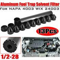"""1-3/4x10 pour Napa-4003-WIX-24003 filtre à carburant de voiture pour Napa 4003/WIX 24003 1/2 """"-28/5/8""""-24 fils aluminium noir"""