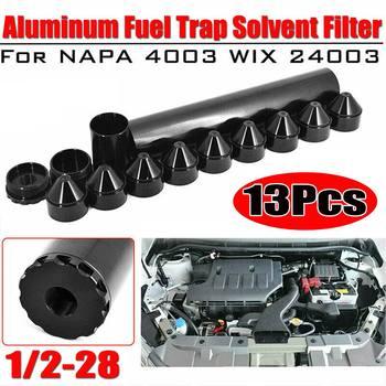 1-3 4 #215 10 dla Napa-4003-WIX-24003 filtr paliwa samochodowego dla Napa 4003 WIX 24003 1 2 #8222 -28 5 8 #8221 -24 wątki czarny aluminium tanie i dobre opinie Autoleader 6061-T6 Aluminum 250g none