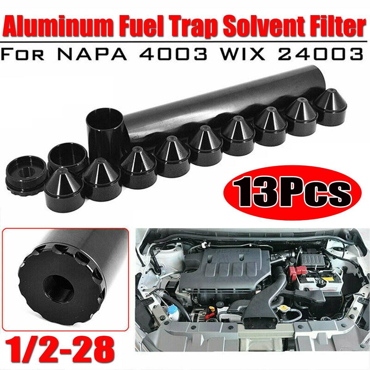 Автомобильный топливный фильтр для Napa 4003/ WIX 24003 1/2-28/5/8 дюйма-24 резьбы, черный, алюминий, 1-3/4x10