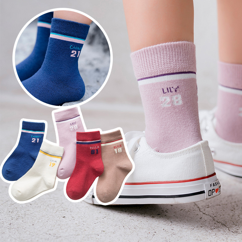 Autumn And Winter New Products CHILDREN'S Socks Cute Bow Boneless Suture Cotton Tube BABY'S Socks Fashion Socks