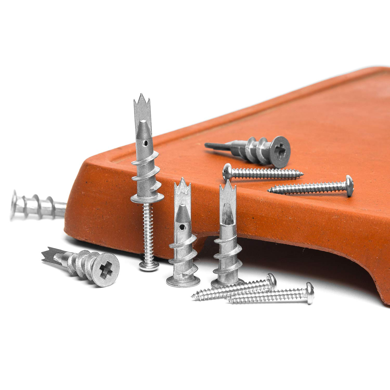 Image 4 - NINDEJIN 120pcs/set Screws Zinc Alloy Self Drilling Board Drywall Hollow wall Anchors M4.2 Tapping Screw Kit With Storage BoxScrews   -