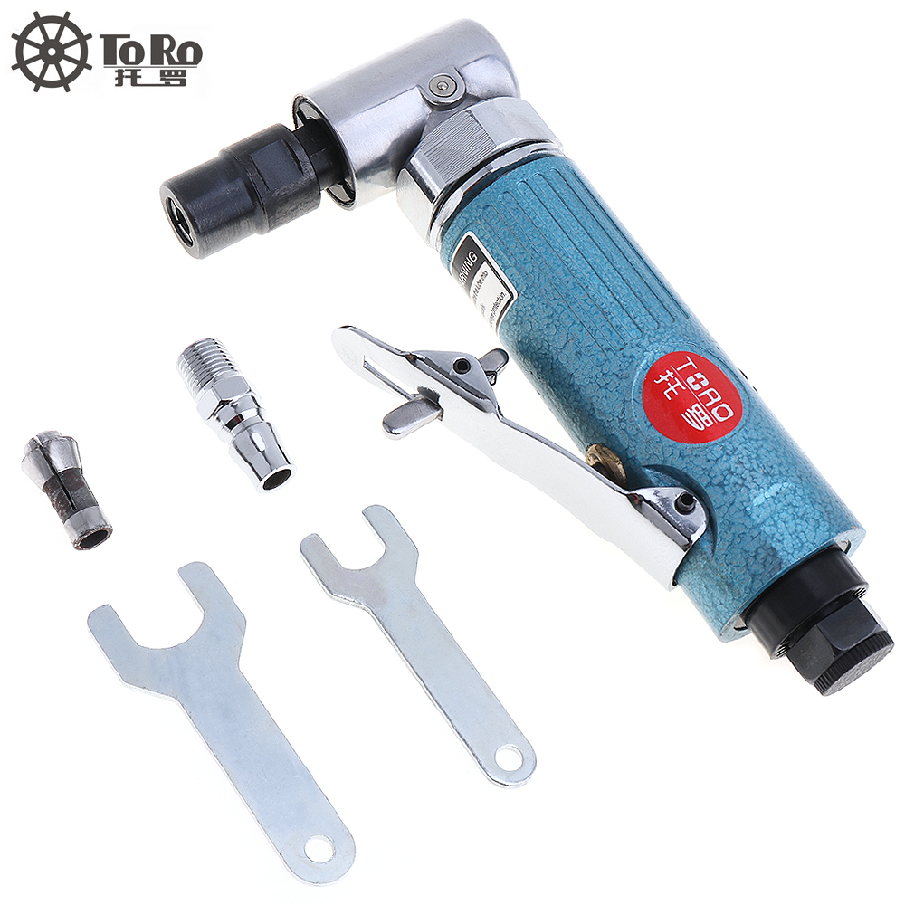 TORO Air Grinder 1/4&1/8 Pneumatic Angle Die Grinder 90 Degree 3MM&6MM Air Die Grinding Tools 25000rpm For Woodworking
