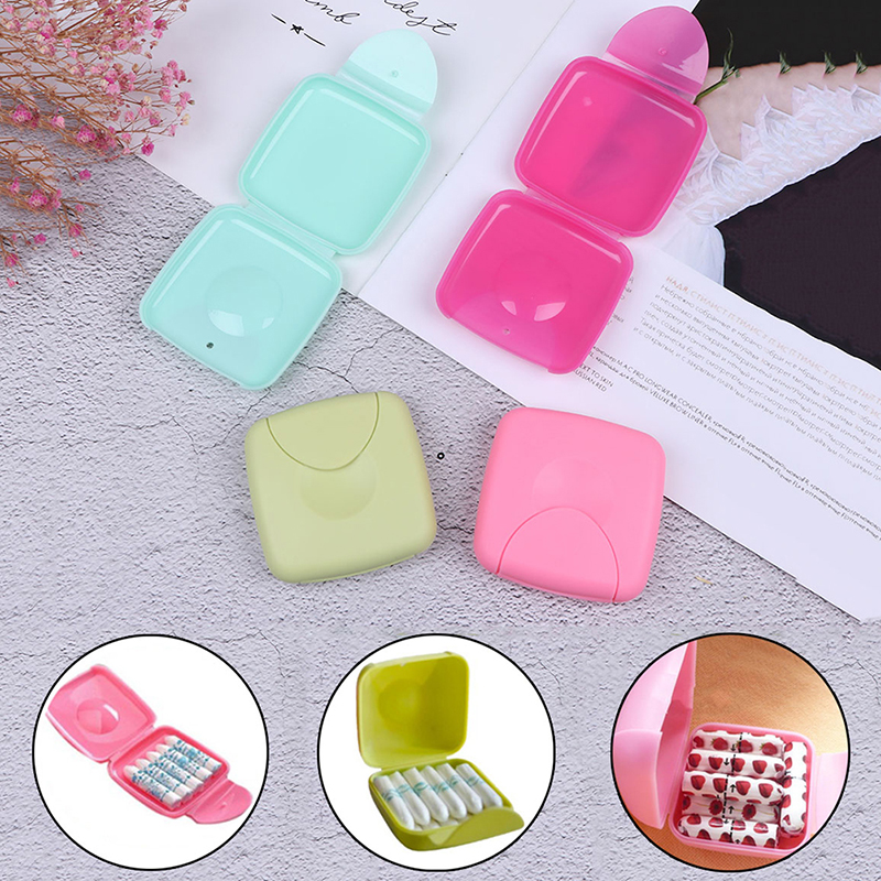 1PCS Portable Women Sanitary Napkin Tampons Storage Box Holder Container Travel Outdoor Case Tampon Box