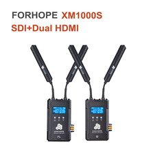 Forhope XM1000S Wireless Video Transmission System SDI Dual HDMI Support Full Duplex Talkback Transmitter Receiver Kit