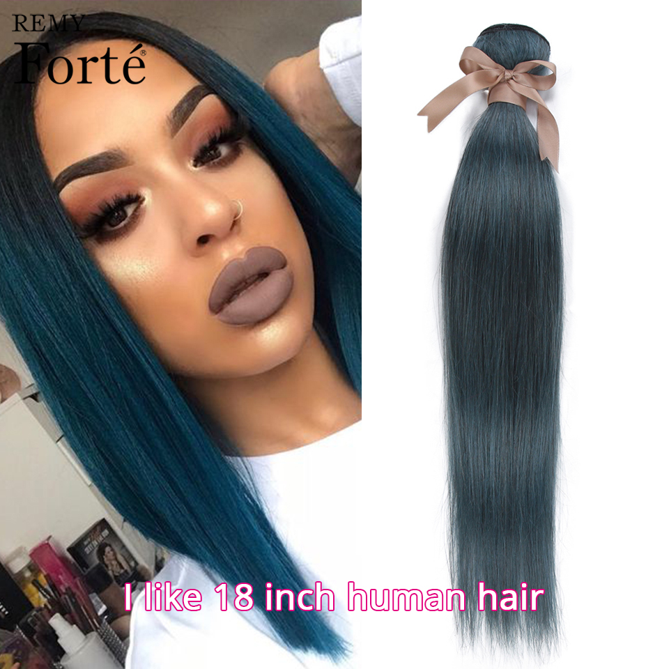 Remy Forte Straight Human Hair Blue Hair Bundles Hair Vendors Remy Brazilian Hair Weave Bundles Single Bundles Hair Extension