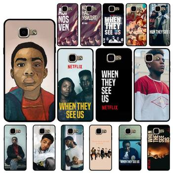 FHNBLJ When They See Us Phone Case for Samsung A6 A8 Plus A7 A9 A20 A20S A30 A30S A40 A50 A70 image