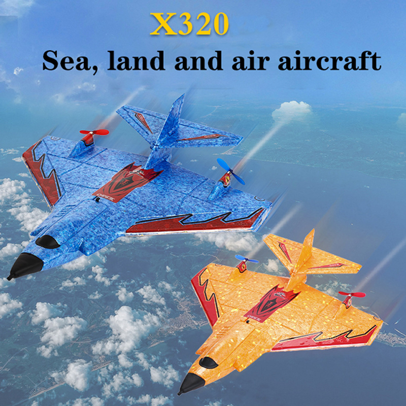 Mini Sea, Land And Air Remote Control Aircraft On The Ground And Above The Sky Amphibious Aircraft EPP Foam Drop School Model