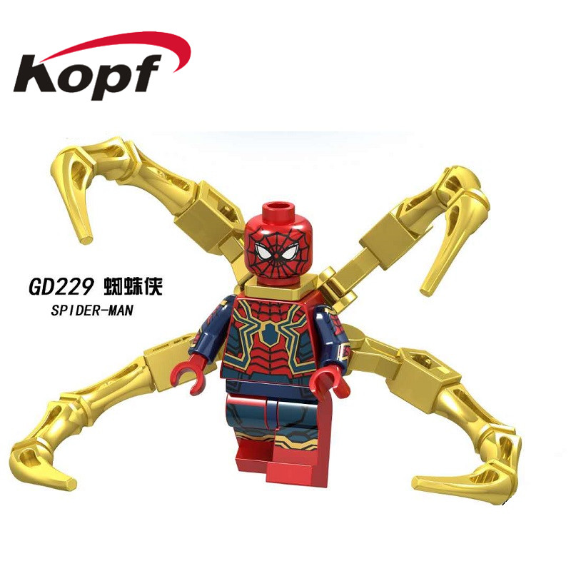 Single Sale Building Blocks Super Heroes Avengers 4 Spiderman Batman Ant-man Thanos Action Figures Toys for Children Model GD229 image