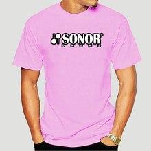 Sonor – t-shirt manches courtes pour homme, haut noir avec Logo de tambour 8015X