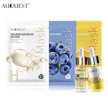 AuQuest гидролизованные золотые фольги и витамин С сывороточная эссенция увлажняющий с гиалуроновой кислотой против морщин маска для лица Уход за кожей