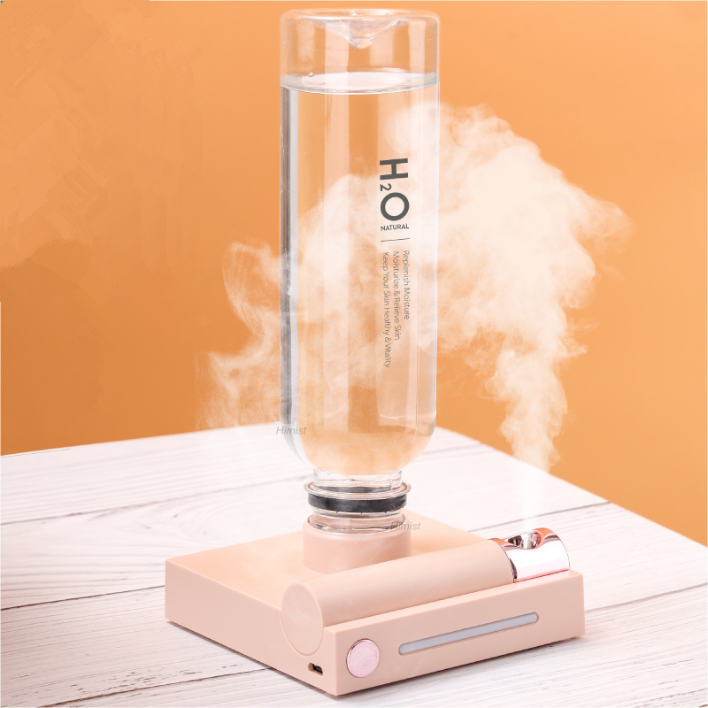 Water Bottle Portable Humidifier Rechargeable Aromatherapy Humidificador USB Aroma Air Diffuser With Night Lamp For Travel
