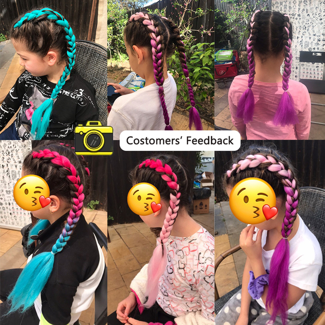 MISS ROLA 24Inch Glowing Twist Braids Braiding Hair Extensions Jumbo Braids Ombre Synthetic Hair Support Wholesale 2
