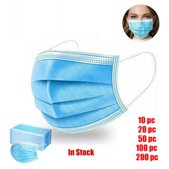 Hot Sale 3-layer mask Face Mouth Masks Non Woven Disposable Anti-Dust Masks Earloops Masks image