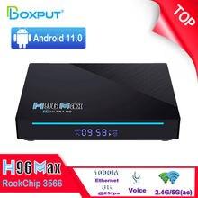 H96 Max 3566 Android 11.0 TV Box RockChip RK3566 2.4G 5.8G Wifi 8K TVbox 4G 32G USB3.0 1000M Youtube h96max Set Top Box 8G 64G