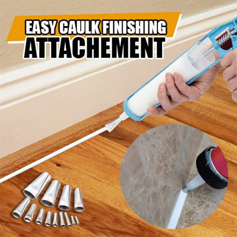Stainless-Steel Glue Mouth Applicator Tool 14pcs Finisher Caulking Nozzle Kitchen Push Rod Glue Artifact