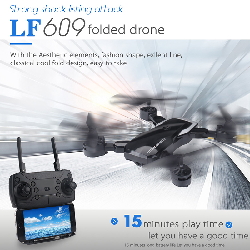 New 4CH 4-Axis 1080P RC Drone Foldable WIFI Headless Mode Speed Adjustable Kid Adult Toy Mini RC360 Camera Drone Remote Control(China)