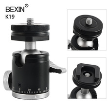 Câmera mini bola cabeça cabeça monopé bola cabeça tripé 360 panorâmica cabeça com sapata quente base adaptador de montagem para dslr câmera flash