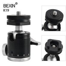 Kamera Mini piłka głowica Monopod głowica kulowa głowica statywu 360 głowica panoramiczna z podstawą gorącej stopki Adapter do montażu lustrzanka cyfrowa Flash