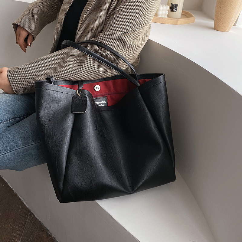 Ladies Totes Leather Shopping Shoulder Bags For Women Hobes Large Capacity Vintage Women Bag Hand Bag And Purse Female Bolso