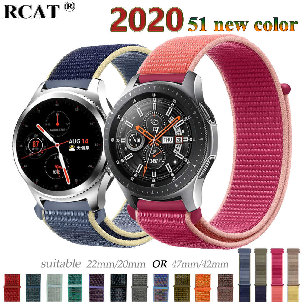 הילוך s3 Frontier רצועת עבור Samsung galaxy watch 46mm 42mm פעיל 2 ניילון 22mm להקת שעון huawei watch gt רצועת amazfit ביפ 20 44