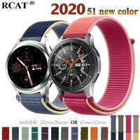 Gear s3 Frontier strap For Samsung galaxy watch 46mm 42mm active 2 nylon 22mm watch band huawei watch gt strap amazfit bip 20 44