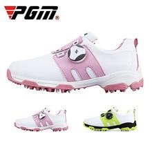 PGM кроссовки для гольфа для девочек и мальчиков; спортивная обувь для улицы; Водонепроницаемая детская обувь из микрофибры; вращающиеся шнурки; нескользящая Мягкая Обувь