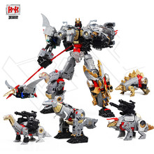 BMB Black Mamba 5 IN 1 Transformation Action figure boy Toys Oversize 40CM Cool Predaking KO Dinosaur Model Toys(China)