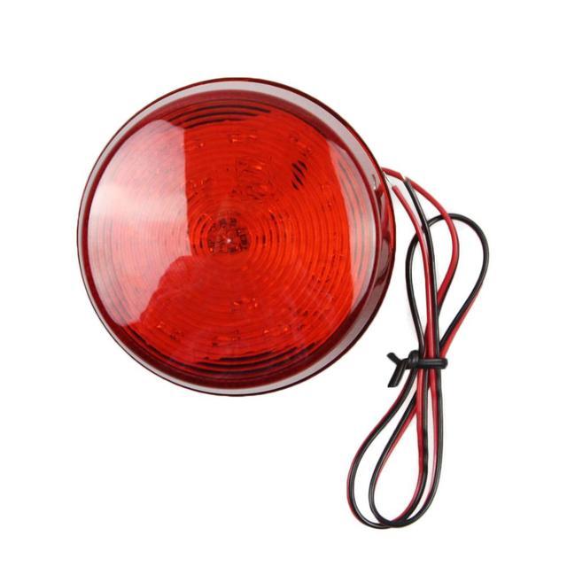 DIYSECUR alarme stroboscopique de sécurité 12V   Sirène rouge, clignotant