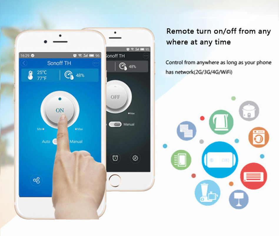 Sonoff TH16/TH10 درجة الحرارة الرطوبة مراقبة Wifi مفتاح ذكي Wifi جهاز تحكم ذكي التبديل تطبيق جوال عن توقيت التبديل