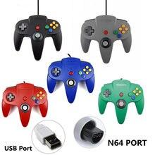 Com fio n64 gamepad joystick para gamecube para mac gamepads controlador de jogo de computador