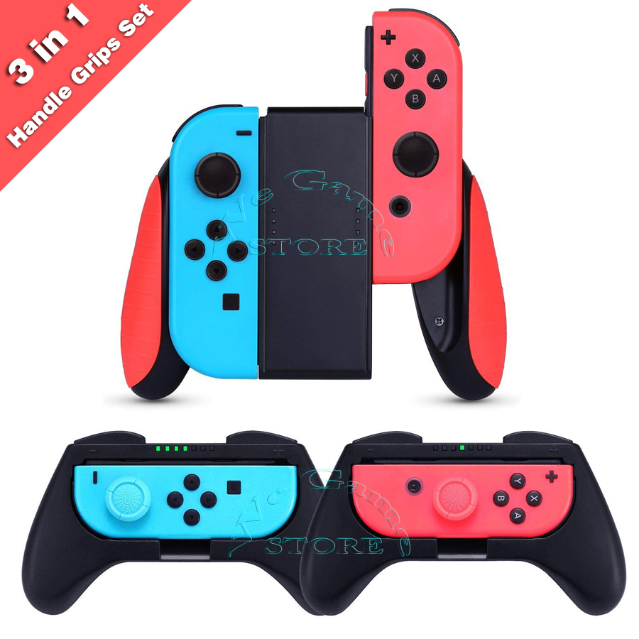 3 in 1 Nintend Switch Joycon Comfortable Handle Grip Nintendoswitch Controller Holder Nintendos Gamepad Stand for