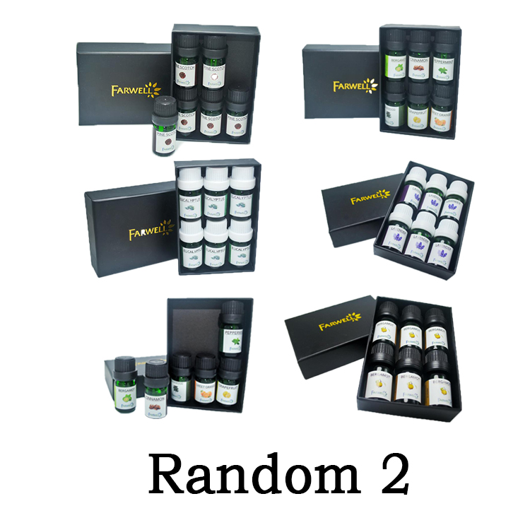 6 Bottles Pinescotch 5ml Aromatherapy Diffusers 100% Essential Oil Organic Body Massage Relax Fragrance Skin Care Kit
