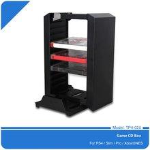 Black Color Game Disk Tower Vertical Stand for PS4 DualShock Controller Charging Dock Station for PlayStation 4 PRO Slim