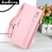 Baellerry Women's PU Leather Wallet For Credit Card Female Coin Purse Luxury Brand Long Clutch Zipper Lady Purse Women Wallets baellerry brand new fashion women wallet leather wallets women wholesale lady purse high capacity clutch bag women gift 7 colors