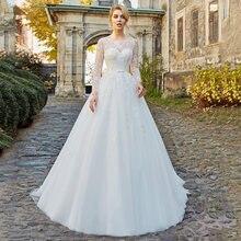 Скромные Тюль Свадебные платья 2021 Высокое качество аппликации