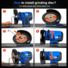 12V Mini Brushless Angle Grinder Cordless Polishing Grinding Machine 2.0mAh 19500RPM Electric Power Tools for home by PROSTORMER 4