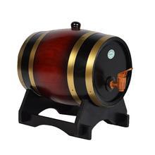 Дубовая сосна бочка для хранения вина специальная бочка 1.5L 3L ведро для хранения пива бочки для пива Виски Ром порт характеристики барный инструмент