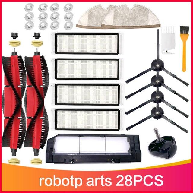 ممسحة القماش فرشاة رئيسية HEPA تصفية عدة ل شاومي ل Roborock S5 S50 S55 T6 T4 T61 Mijia S1 E25 روبوت مكنسة كهربائية الملحقات