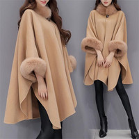 Women Clothes 2019 Cape Coat Winter Coat Women Warm Korean Style Fashion Clothing Cloak Type Womens Tops Fashion Slim