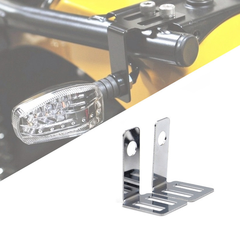 Motorcyle Rear Turn Signal Relocater Holder Seat Mount Bracket Bobber Triumph