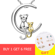 XiaoJing Hot sale 100% 925 sterling silver diy lovely cat pendant chain necklace fashion jewelry making for women gifts