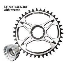 Meroca 32t/34t/36t/38t mountain bike oco integrado pedaleira da bicicleta peças da placa do dente para m6100/m7100/8100/9100