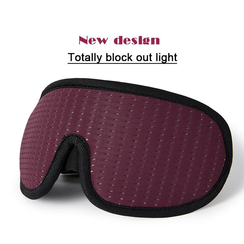 3D Sleeping Mask Block Out Light Soft Padded Sleep Mask For Eyes Slaapmasker Eye Shade Blindfold Sleeping Aid Face Mask Eyepatch
