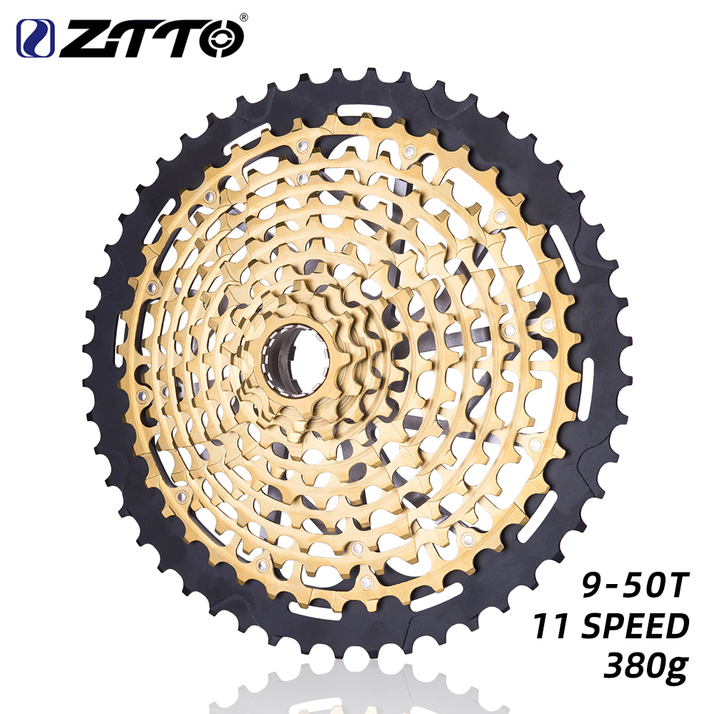 ZTTO Bicycle 11 Speed 11-50T Cassette Gold Wide Ratio MTB Freewheel Sprockets