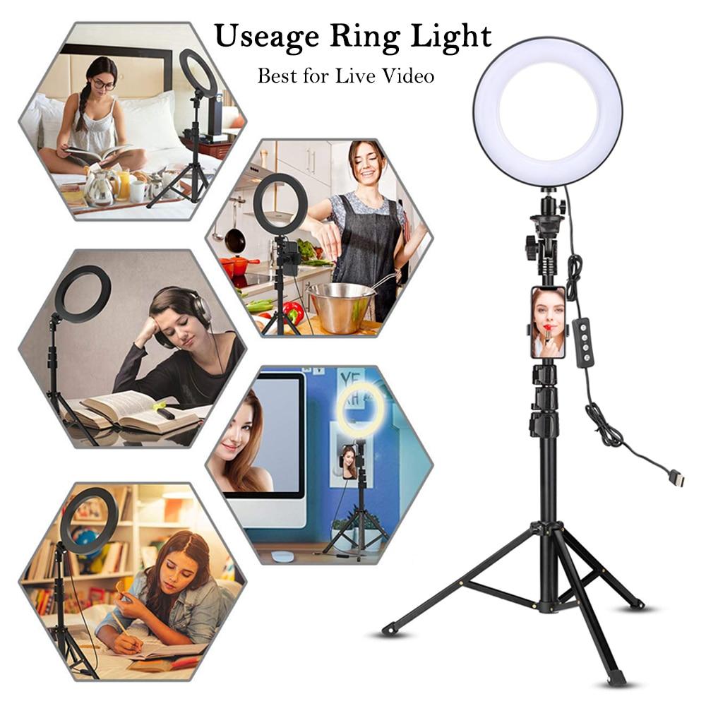 LED-Video-Ringlicht mit 51-Zoll-Stativständer Telefonhalter - Kamera und Foto - Foto 2