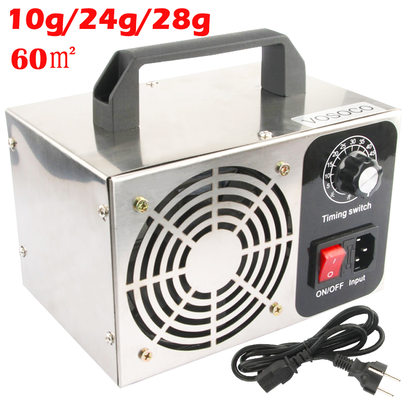 110/220V 10g 24g 28g/h Ozone Generator Air Purifier Ozonizador Machine O3 Ozono Generator Deodorant Disinfection Equipment