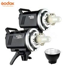 Godox MS300 300Ws/MS200 200Ws סטודיו פלאש אור MS קומפקטי 2.4G מובנה אלחוטי תמונה Strobe Bowens צילום תאורה