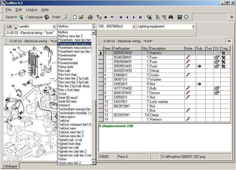 Landini 7.3 Galileo electronic spare parts identification catalog|electronic  parts catalog|parts catalogelectronic catalog - AliExpress