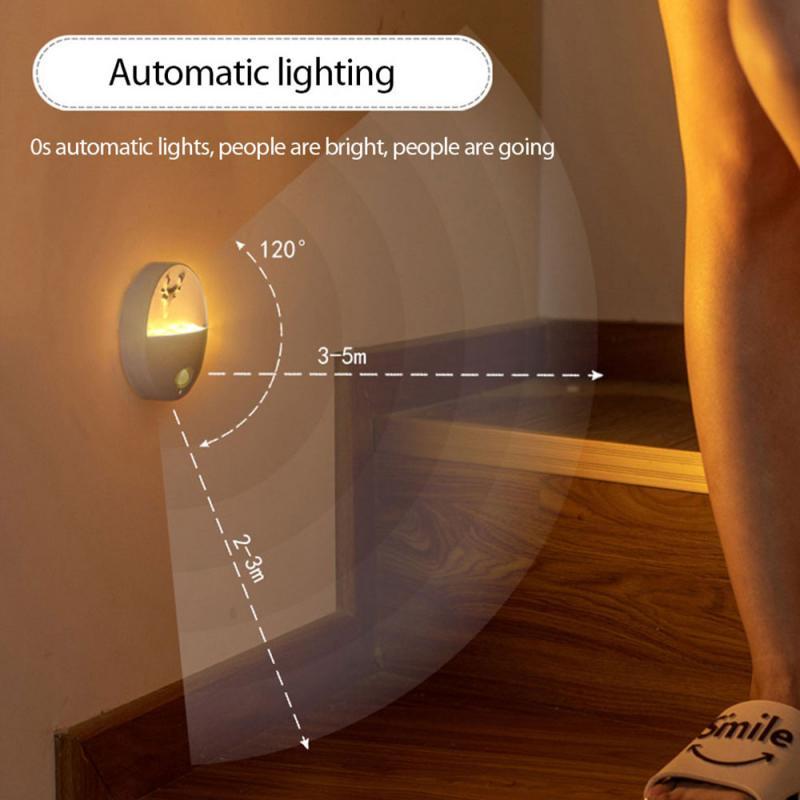 Indução inteligente recarregável aromaterapia led night light